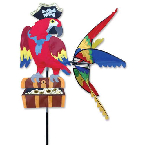 32 Inch Pirate Parrot Wind Spinner