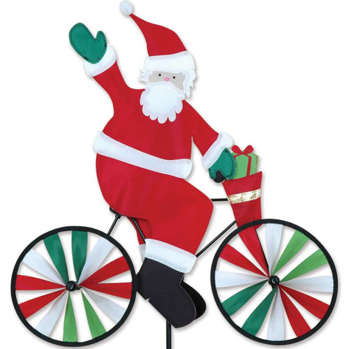 20 Inch Santa Claus Riding Bike Wind Spinner