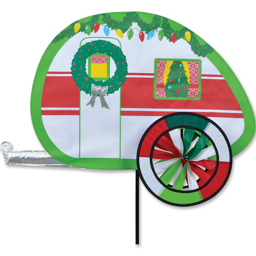 28 Inch Decorated Christmas Camper Wind Spinner