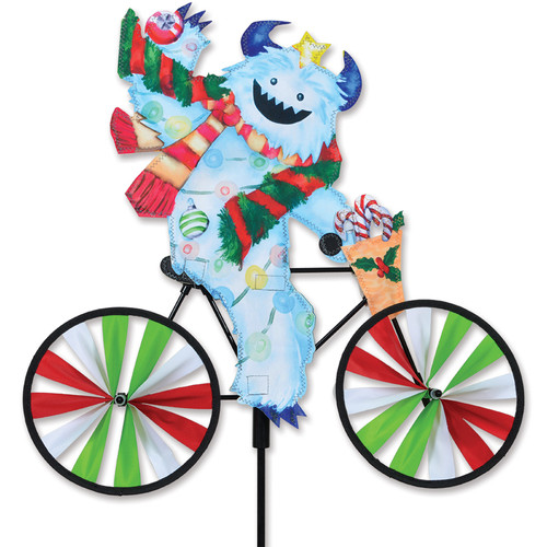 20 Inch Yeti Christmas Monster Riding Bike Wind Spinner
