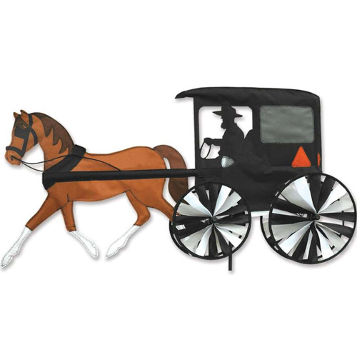 37 Inch Amish Horse and Buggy Wind Spinner