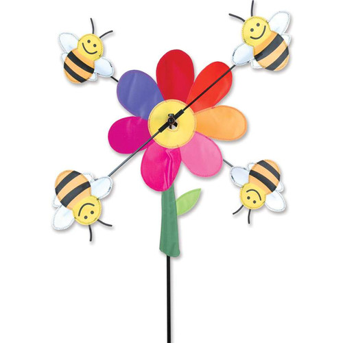 20 Inch Bumble Bees WhirliGig Wind Spinner