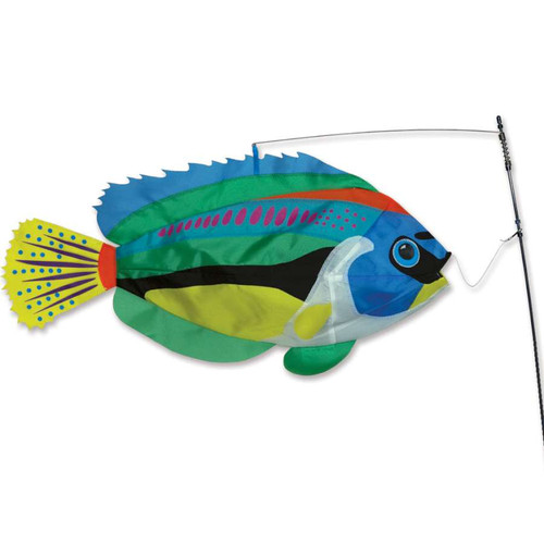 25 Inch Peacock Wrasse Swimming Fish Wind Spinner