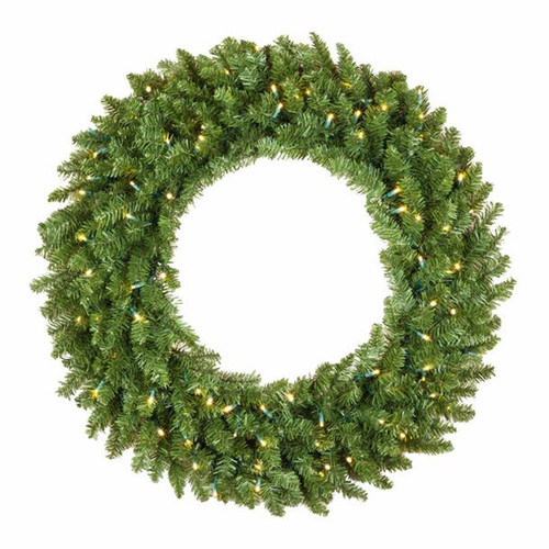 30 Inch Lighted Christmas Wreath With Warm White LED Lights