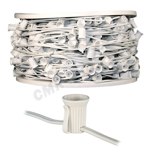 500 Foot Spool of C9 White Wire Christmas Lights SPT1