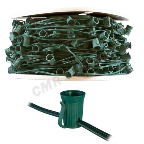 500 Foot Spool of C9 Green Wire Christmas Lights SPT1