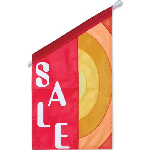 Red and Yellow Commercial Sale Business Flag