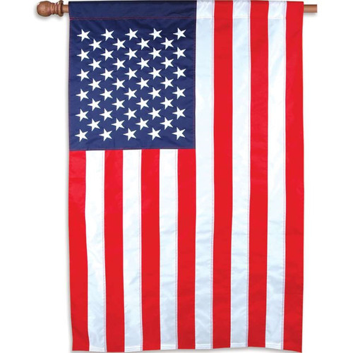American 35 inch by 52 Inch Stars and Stripes Applique Flag