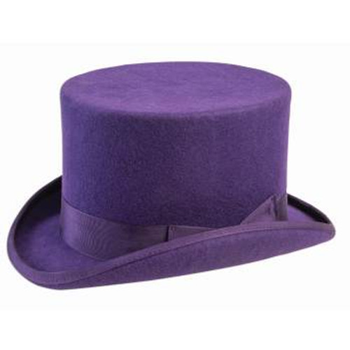 Super Deluxe Purple Top Hat With Bow