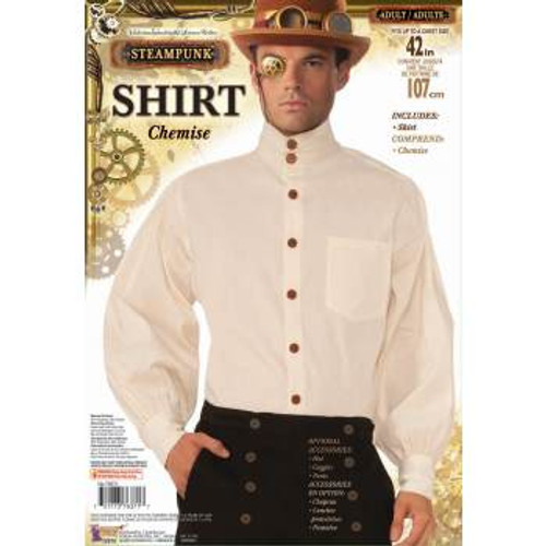 Adult Steampunk Long Sleeve Chemise White Shirt