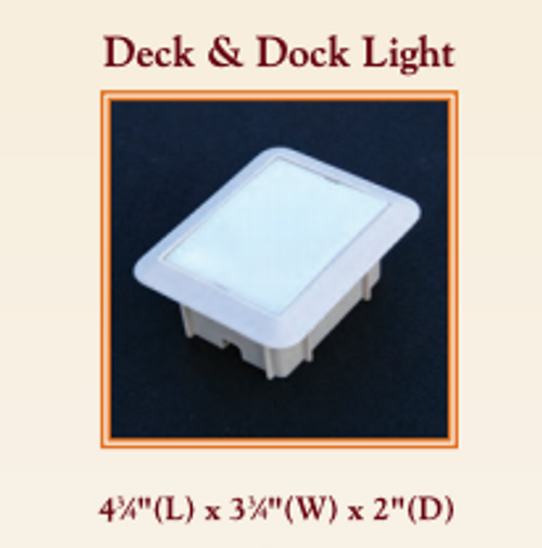 Replacement Deck Light Replacement Lens Cover 4 3/4  x 3 3/4 inch