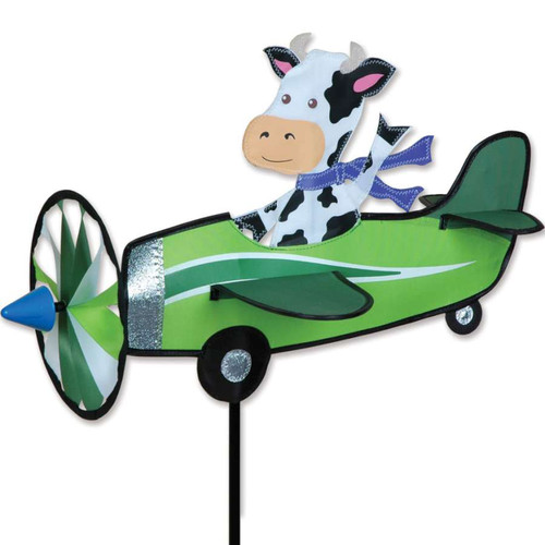 19 Inch Cow Pilot Pal Airplane Wind Spinner