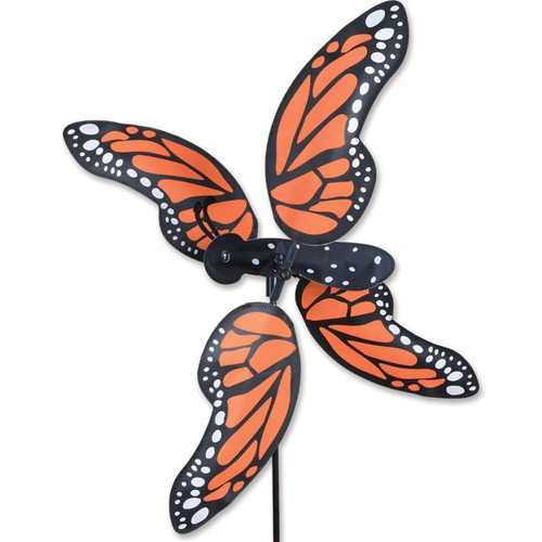 28 Inch Monarch Butterfly WhirliGig Wind Spinner