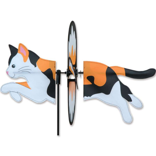 19 Inch Calico Cat Petite Wind Spinner