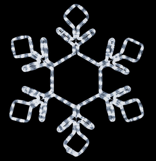 18 Inch LED Lighted Cool White Snowflake Light