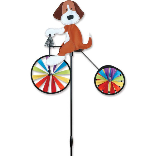 19 Inch Puppy Dog Tricycle Wind Spinner