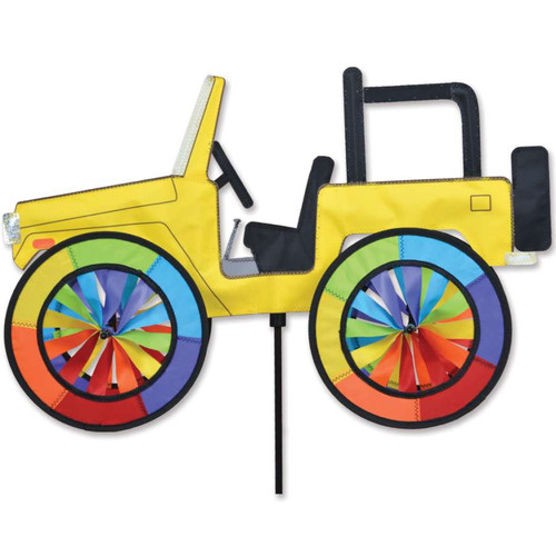 22 Inch Yellow Jeep Wind Spinner
