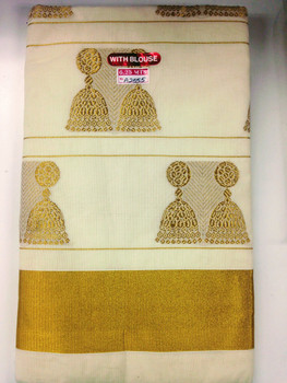 Seemas Aluva Kerala Saree With Bouse