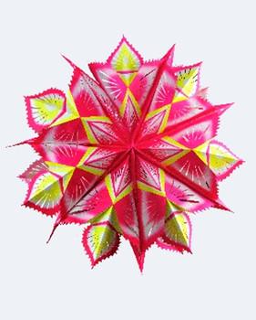 7 Point Print Marigold Star