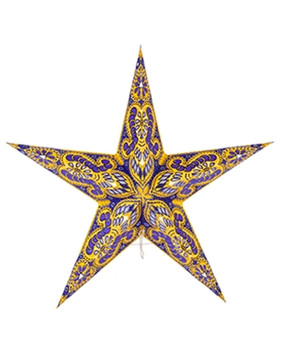 Yellow And Purple Glitter Star
