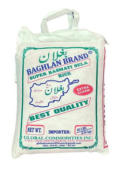 Baghlan Parboil Basmoti Rice 10lb