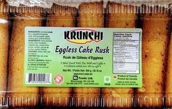 Krunchi Eggless Cake Rusk - 800g