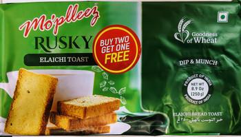 Mopleez Elaichi Bread Toast(Rusk) - 250g