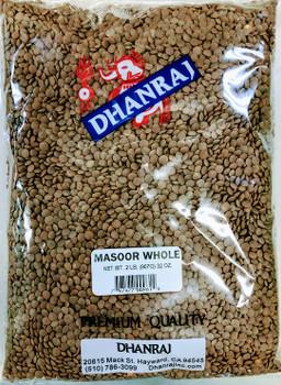 Dhanraj Masoor Whole - 2lb