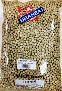 Dhanraj Green Whole Peas - 4lb