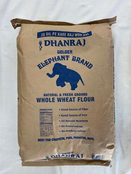 Dhanraj Whole Wheat Atta Blue Bag- 20lb