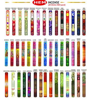 """Assorted Hem Incense 11"""" HX-BOX  (20 Sticks )"""