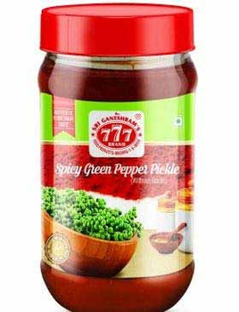 777 Green Pepper Pickle 300gms -Buy 1 Get 1 Free
