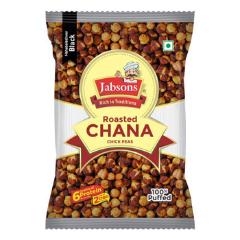 Jabsons Roasted Chana Black Salted Jar Pack 1kg
