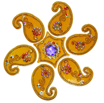 Rangoli With Decorative Meena And Mirror Work (90138)