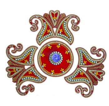 Rangoli With Decorative Meena And Mirror Work( 90429)