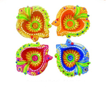 """Hand Painted Diyas In Gift Box(3.5"""")(89867)"""