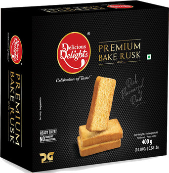 Delicious Delight Premium Bake Rusk 400gm