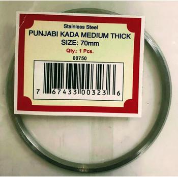 Stainless Steel Punjabi Kada Bracelet Medium Thick