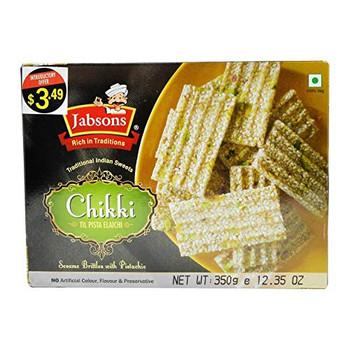 Jabsons Chikki - Til Pista Elaichi 350gm