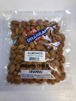 Dhanraj Almond Whole - 7 oz