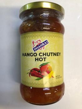 Dhanraj Hot Mango Chutney - 12 oz