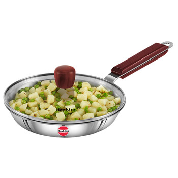 Hawkins Tri-Ply Stainless Steel Frying Pan 22cm (Free Shipping)