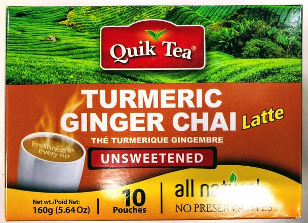 Quik Tea Turmeric Ginger Unsweetened Chai - 160g