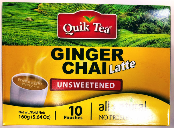 Quik Tea Ginger Unsweetened Chai - 160g