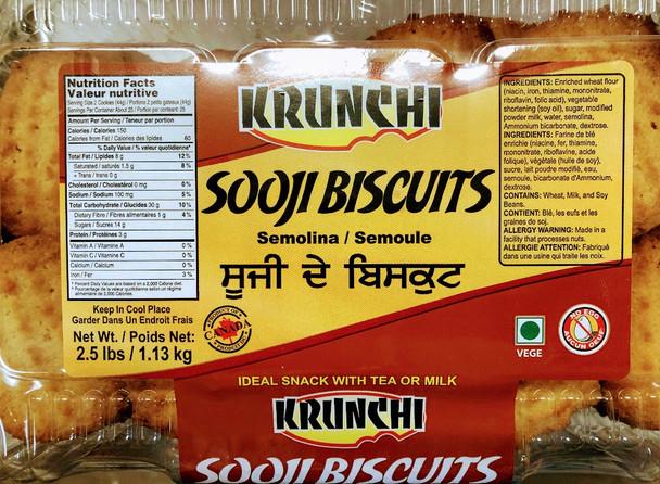 Krunchi Sooji Cookies - 2.5lb