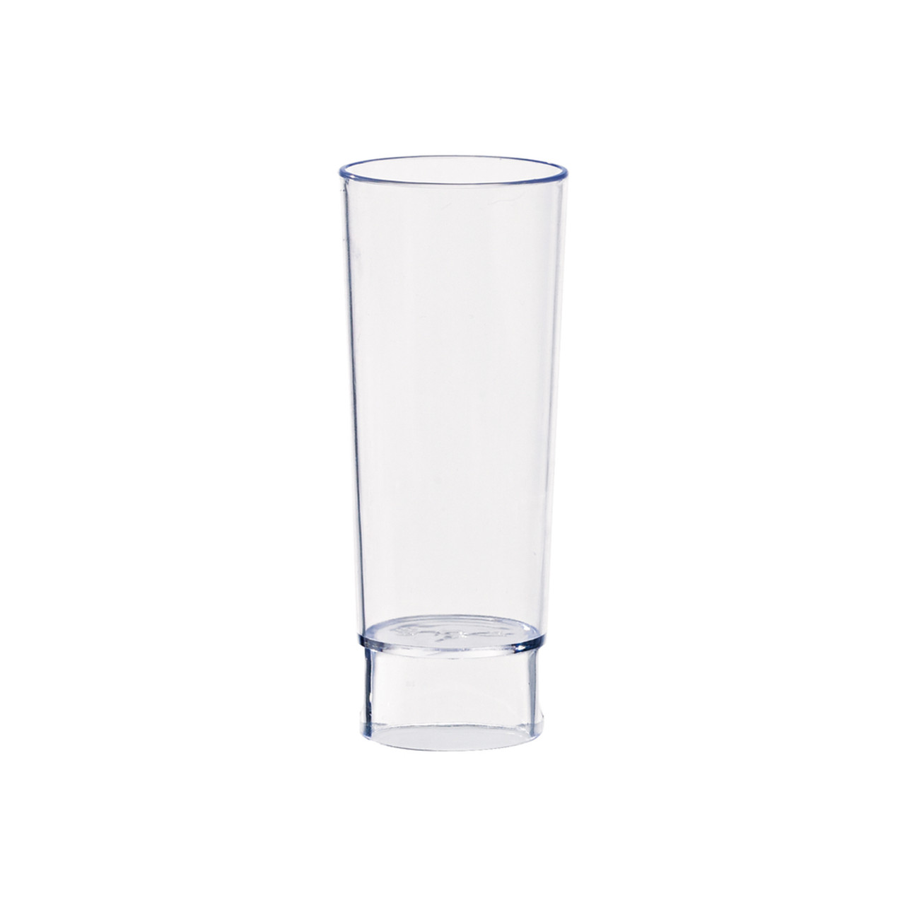 Tall Plastic Shot Glass -1.5oz Dia:1.45in H:3.6in