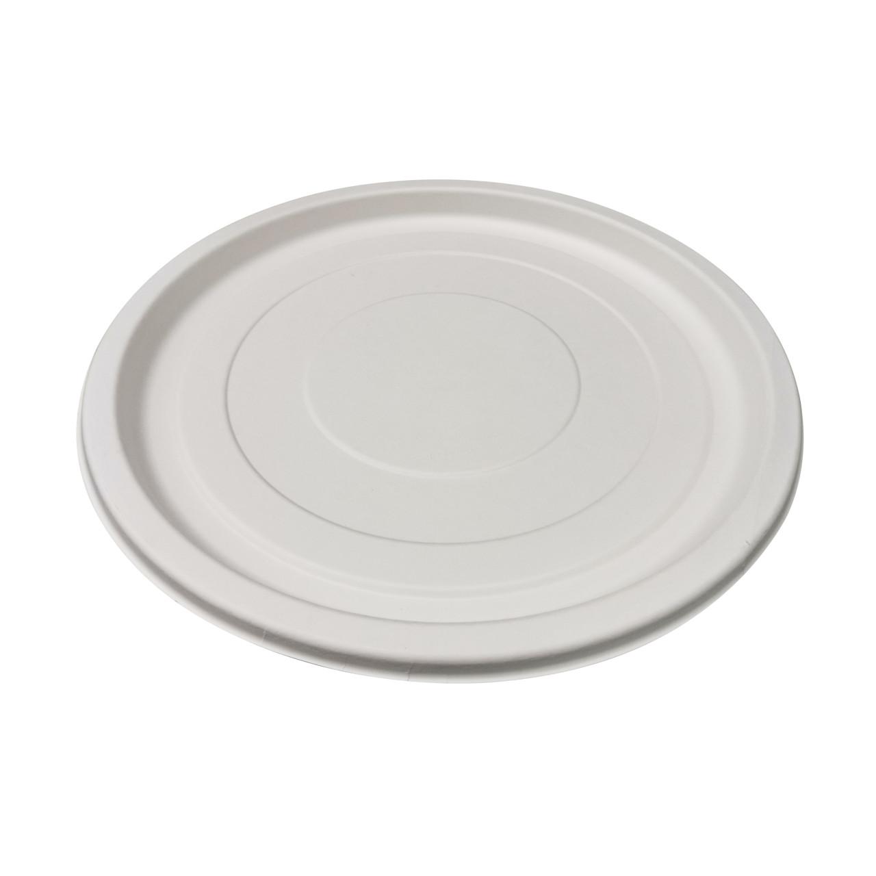 White Round Sugarcane Platter - Dia:18in H:.9in