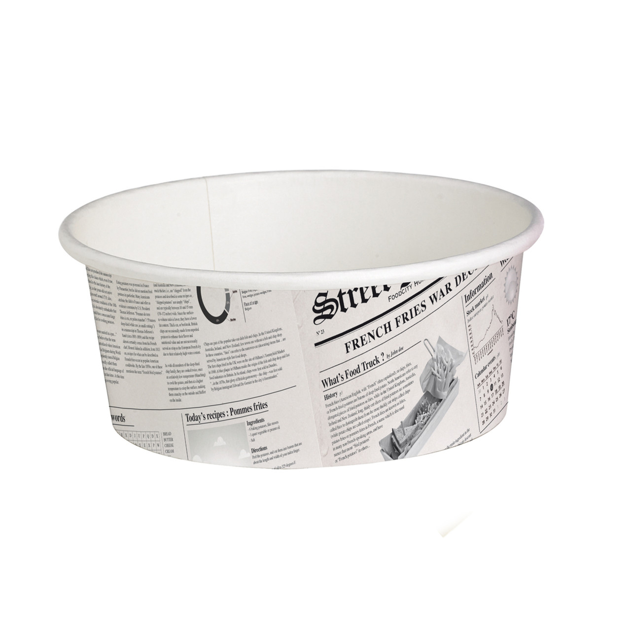 Deli News Printed Containers -16oz Dia:4.4in H:2.8in