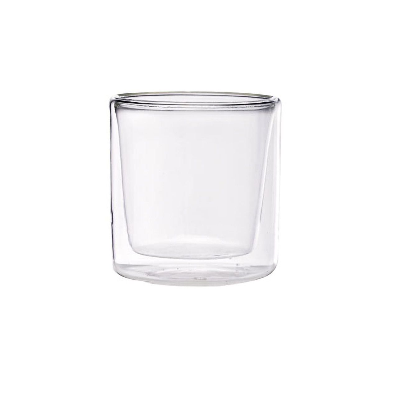Double Wall Short Mini Glass -2oz Dia:2.2in H:2.3in