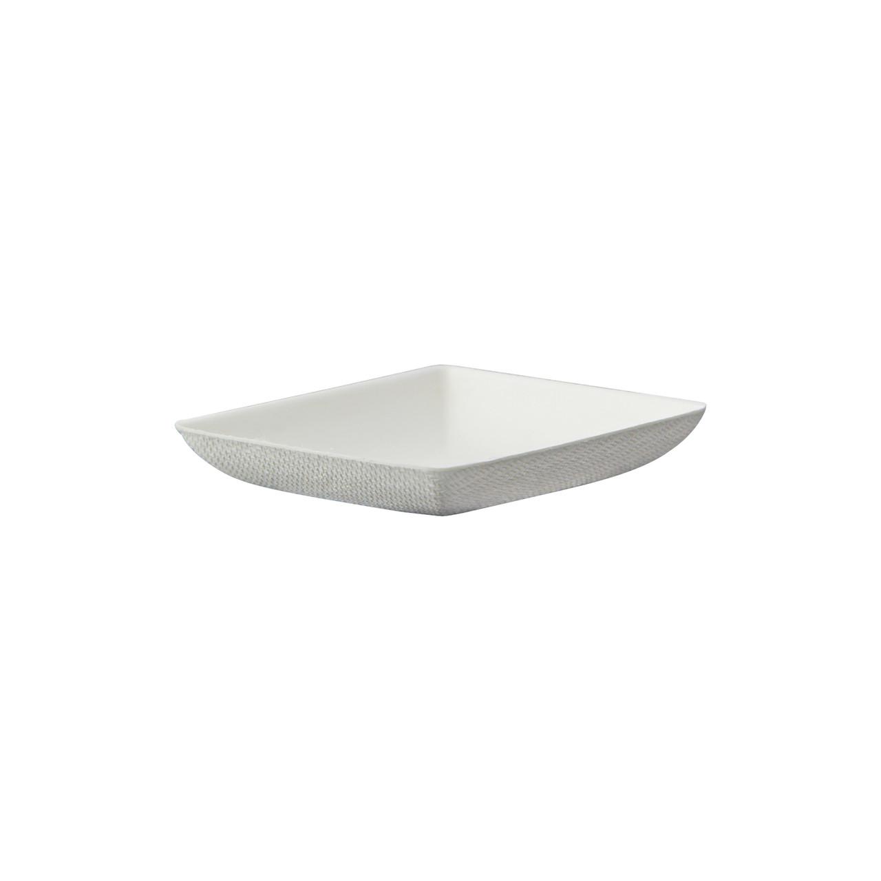 Bionchic Mini White Sugarcane Plate - L:2.55 x W:2.55 x H:.45in